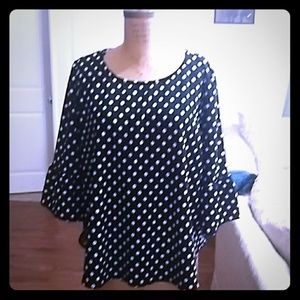 Cute Polka Dot Plus Size Top